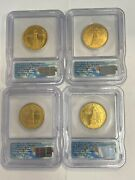 Daniel Carr Signed 2007 D Presidential Medals 4 Pc Set Icg Ms65