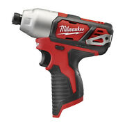 Milwaukee M12 1/4 Hex Impact Driver Tool Only 2462-80 Certified Refurbished