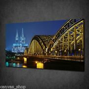Cologne Cathedral At Night Germany Wall Art Canvas Print Picture Ready To Hang