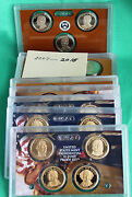 2007 S Thru 2016 S Presidential Dollar Proof 1 Coin Sets 39 Coins No Box