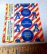 Vintage Unopened Cracker Jack Toy Surprise, Fun Collectible Item, Mystery Toy