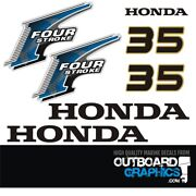 Honda Bf35hp 4 Stroke Outboard Engine Decals/sticker Kit