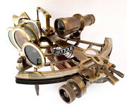 Antique Brass Working Sextant Marine Collectible Valentine Nautical Ship/boat