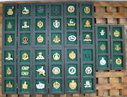Large Collection Of British Military Pins And Badges Dates Range Through Wwi And Ii