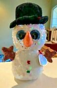 Ty Flippables 6-7 Melty Christmas Snowman Sequin 2019 - Sold Out Edition