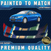 New Painted To Match - Front Bumper Cover Fascia For 2012 2013 Honda Civic Coupe