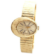 Baume And Mericier Womens Gold Watch Ca1970s   14k Asymmetrical Oval Case
