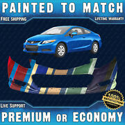 New Painted To Match - Front Bumper Replacement For 2012 2013 Honda Civic Coupe