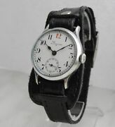 Rare Longines Wwi Cal.13.34 Military Officerand039s 12 Red Watch 1915 Enamel Dial