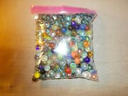 Lot Of 3 Pounds Of Marbles Some Vintage Various Sizes And Makes Some Cats Eyes