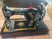Vintage Singer Sewing Machine - 1925 - Model 128-13 In Beautiful Condition
