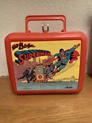 Vintage 1986 This Is A Job For Superman Lunchbox With Thermos
