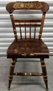 Ethan Allen Hand Decorated Hitchcock Accent Chair Antiqued Pine 12-6120 618
