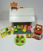 Vintage Fisher Price Little People 923 Play Family School House And Rare