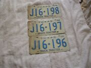Lot Of 3 Texas 1970 Truck Tractor License Plate Plates