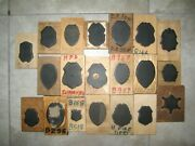 20 Texas Police Fire Dept Badge Leather Craft Cutting Die Punch Tool Mold Lot 5