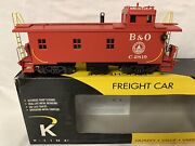 ✅k-line By Lionel Smoking Baltimore And Ohio Wood Side Caboose For Diesel Steam
