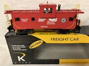 ✅k-line By Lionel Smoking Norfolk Southern Ev Caboose New O Scale Ns Train
