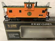 ✅k-line By Lionel Bnsf Extended Vision Caboose For O Scale Diesel Engine Smoke