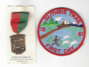 Boy Scout Vintage Guthrie Trail Medal And 1st Day Pp Lot Columbus Indiana Rare