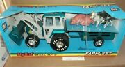 Vintage Nylint Farm Set Tractor Trailer And Animals 1781 Sealed In Bx