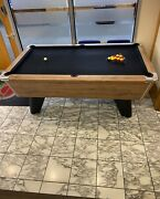6ft/7ft Supreme Winner Coin Operated Slate Bed Pool Table Hearty Oak Finish