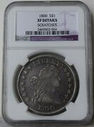 1800 Draped Bust Silver Dollar Ngc Xf Scratches Americai Variety