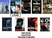 Tom Cruise 10 Film Dvd Collection Rain Man/the Firm/vanilla Sky/collateral/etc.