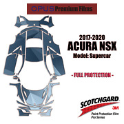 3m Pro Series Precut Paint Protection Clear Bra Kit For Acura Nsx 2017-2020 Full