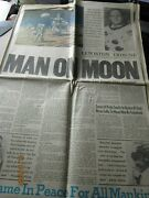 Lewiston Tribune Idaho 7/21/69 Man On Moon Newspaper Article Pictures Armstrong
