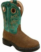 Twisted X Womenand039s Boots Wezs003 Ez Rider Work Distress Grain Green Leather Steel