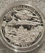 1 Oz .999 Silver World War 2 Awakend A Sleeping Giant Pearl Harbor Patriot New
