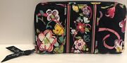 Vera Bradley Retired Rare Ribbons Accordian Wallet Cancer Pattern Excellent