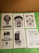 Vintage Lot 15 Advertising Print Ad Campbell's Vegatable Soup Ads 1920's