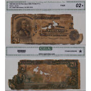 1902 20 Pb Mcfarland Ca Ch10387 Zombie Circulated Rare Large Size Currency