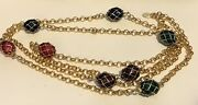 """Joan Rivers Signed Classics Collection Multi-color Enamel Egg Necklace 23"""" Long"""