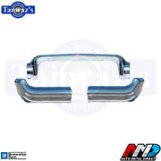 58 Impala Bel Air Biscayne Front Bumper 3 Pieces Chrome Amd Tooling 100-3958