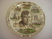 Vintage Will Rogers 1879-1935, Vernon Kilns Collectible Plate, 10 1/3 Dia