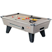 6ft/7ft Supreme Winner Coin Operated Slate Bed Pool Table Driftwood Finish