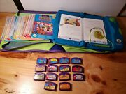 Leapfrog Leap Pad Learning System With 16 Books / 14 Cartridges / With Case