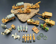 1940 Erzgebirge Lot Wwii Military Wood Wehrmacht Motorcycle Soldiers Trucks Toys