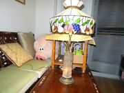 Collectible Crystal Desk Lamp With Style Stained Glasses Lamp Shade