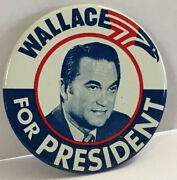 Vintage Wallace For President Presidential Campaign Button 3andrdquo Pin Back