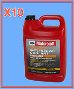 10 Gallons Engine Coolant Antifreeze Ford Motorcraft Orange/yellow Pre Diluted