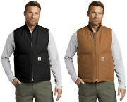 Menand039s Duck Vest Artic-quilt Lined V01 Water Repellent Zippered