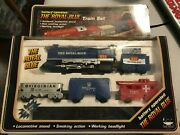 Battery Operated The Royal Blue Train Set Vintage 1986