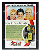 Historic Jo-cur Hair Dyes 1925 Advertising Postcard