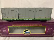 ✅mth Premier Trash Containers On Burlington Northern 60' Flat Car