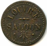 Louvre Saloon Goldfield, Nevada Old Trade Token Good For 12 1/2c In Trade