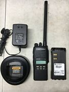 6 Motorola Ht1250 Low Band 35-50mhz 128ch Radios Aah25cef9aa5an Bat Ant Charger